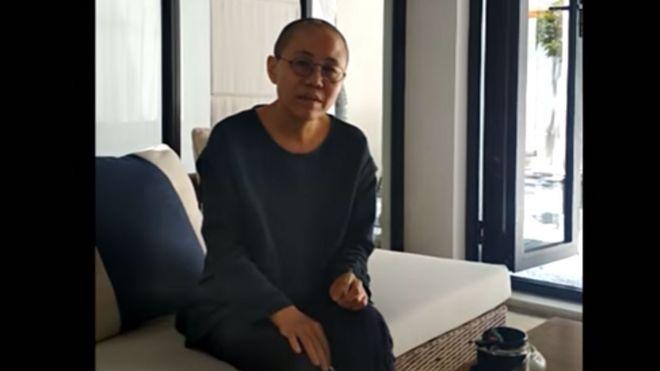 Bà Lưu Hà, vợ góa của ông Lưu Hiểu Ba