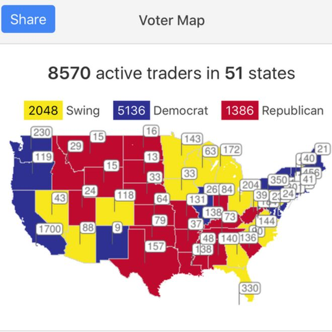 US Election Could Voteswapping Help Clinton BBC News - Bbc election map us