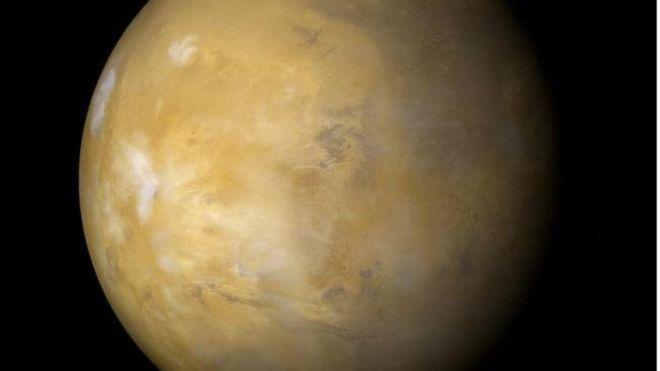Marte captado por el Mars Global Surveyor (NASA/JPL/MSSS)