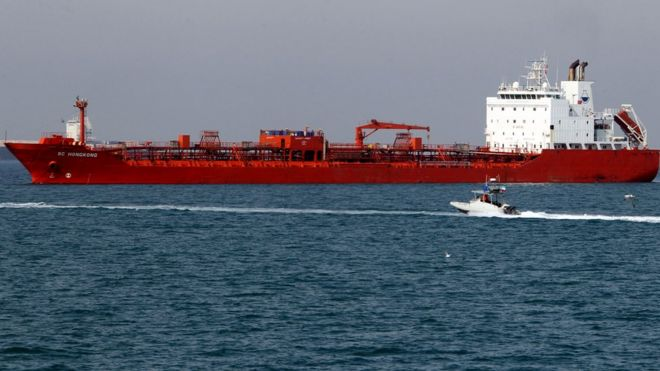 美國早前促請聯合國將十艘貨輪列入黑名單
