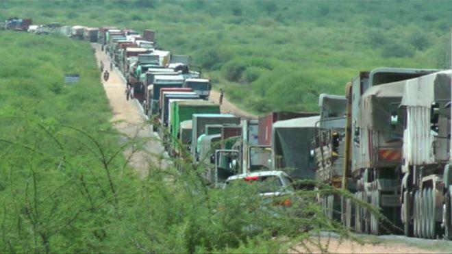 Mombasa-Nairobi traffic jam