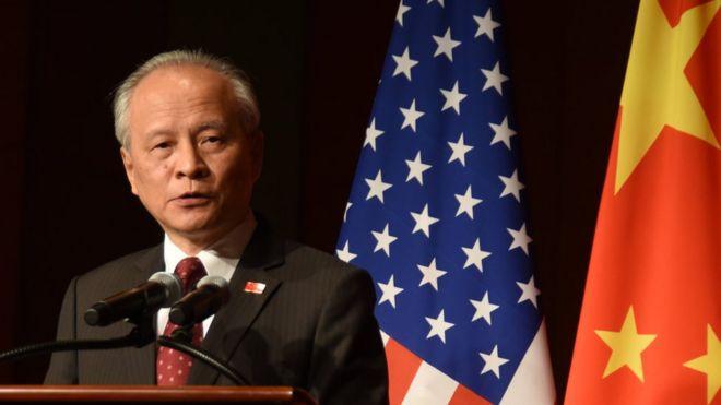 當地時間9月29日晚,中國駐美國大使崔天凱在使館舉行的僑學界國慶招待會