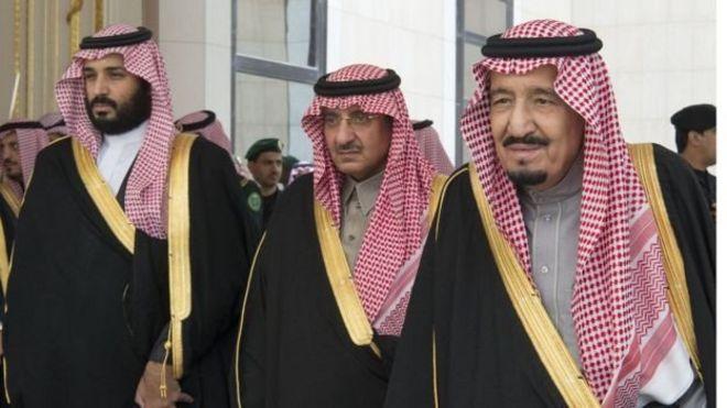 محمد بن سلمان ومحمد بن نايف والملك سلمان