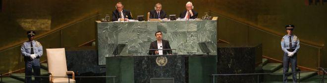 محمود احمدی نژاد در سازمان ملل