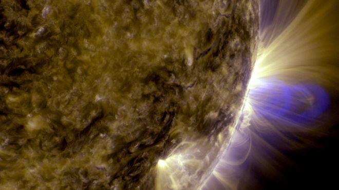 Cordas de fluxo magnéticas no Sol