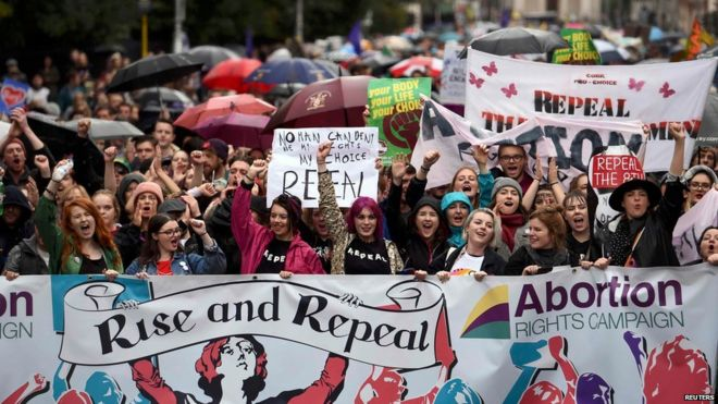 Demonstrations brought traffic to a standstill in Dublin
