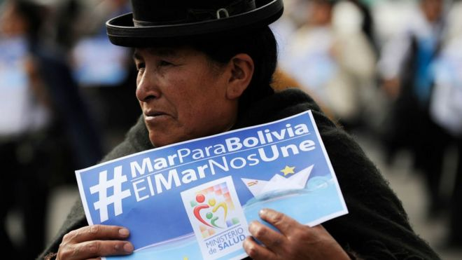 RECLAMA BOLIVIA SALIDA AL MAR