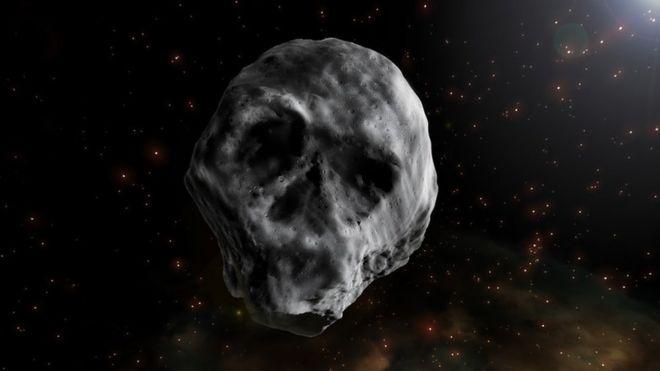 Ilustração do Asteroide do Halloween