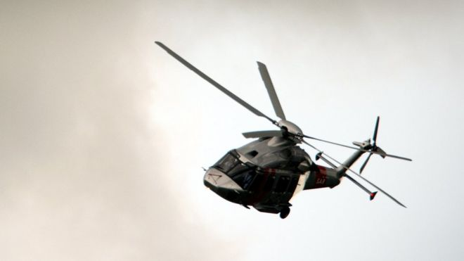 Agusta helicopter, July 2012 file pic