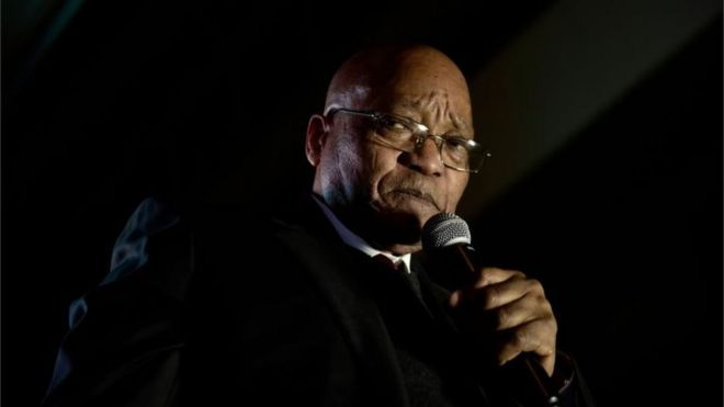 South African President Jacob Zuma. File photo