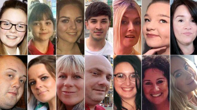 Victimas del atentado de Manchester