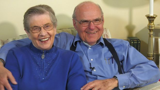 Tom Moore and his wife LaVonne