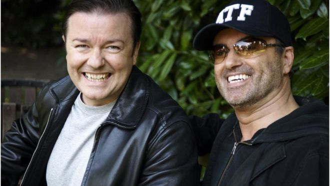 George Michael e Ricky Gervais