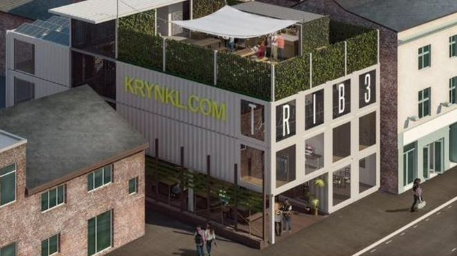 Container Building sheffield shipping container building plan approved - bbc news