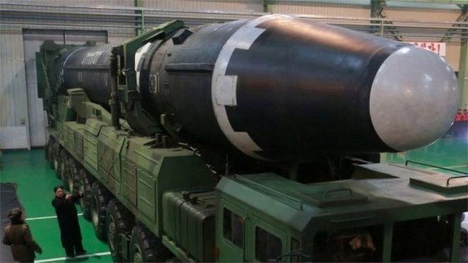 Un misil de largo alcance de Corea del Norte, 30 de noviembre de 2017