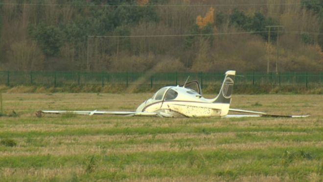 The plane in the field