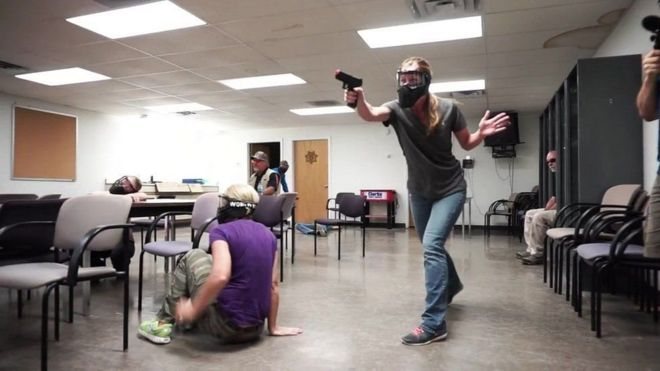 Profesores durante un entrenamiento de FASTER. Foto: FASTER