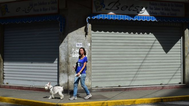 Many shops closed but the president said the strike had failed | AFP