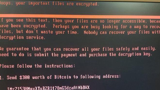Ransomware screenshot