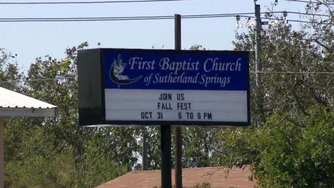 Letreiro da Primeira Igreja Batista em Sutherland