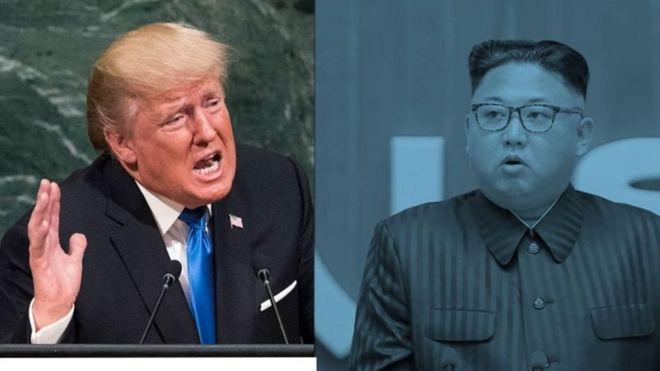 """""""Kim Jong-Un de Corée du Nord, qui est clairement un fou qui ne craint pas d'affamer et de tuer son peuple, va être mis à l'épreuve comme jamais!"""" a lancé M. Trump dans un tweet matinal."""