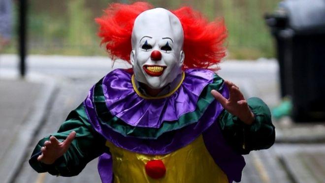 Creepy clown craze Nobodys laughing BBC News