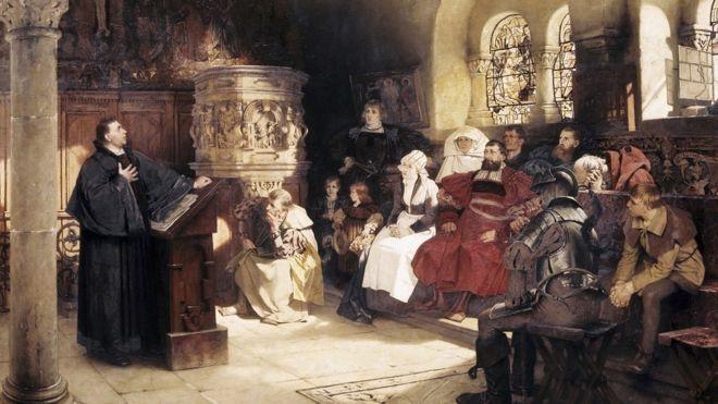 Lutero pintado por Hugo Vogel.