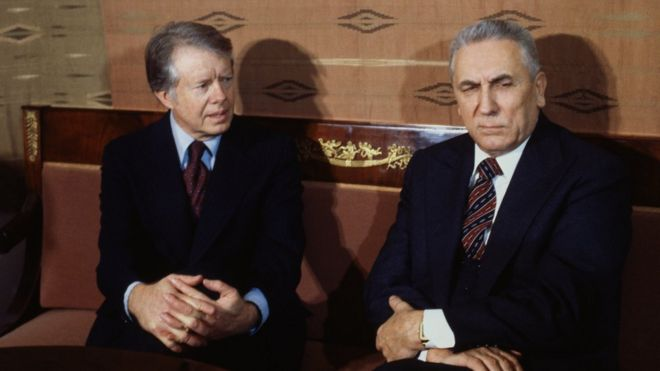 Jimmy Carter và Edward Gierek