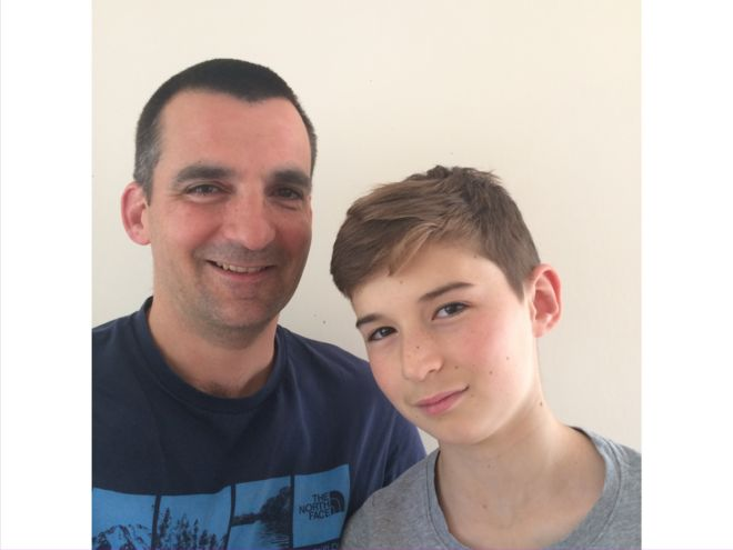 Nick Herbert e seu filho Ben