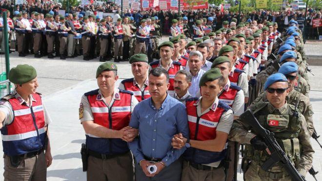Начался суд вотношении неменее 200 предполагаемых путчистов— Турция