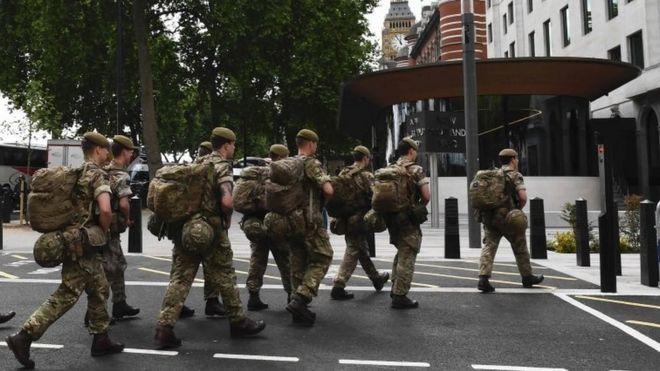 Londra'daki askerler