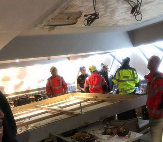 Image result for Diners hurt as ceiling collapses in Bolton restaurant