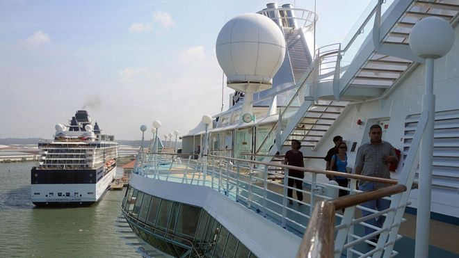 Chinese Woman Survives Hours In Sea After Falling From Cruise - Chinese cruise ship