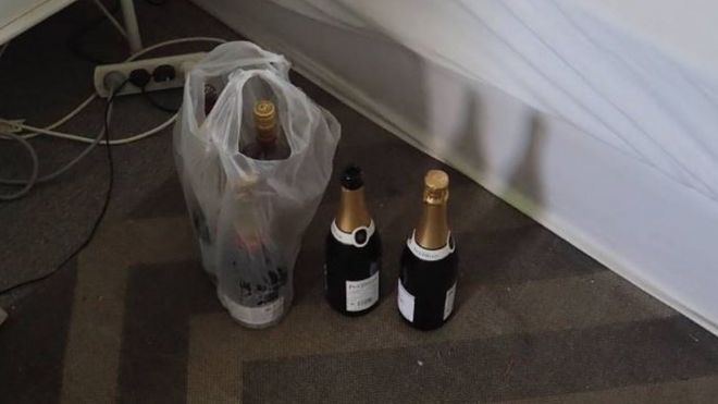 Intruder 'drank champagne and fell asleep in woman's bed&#39