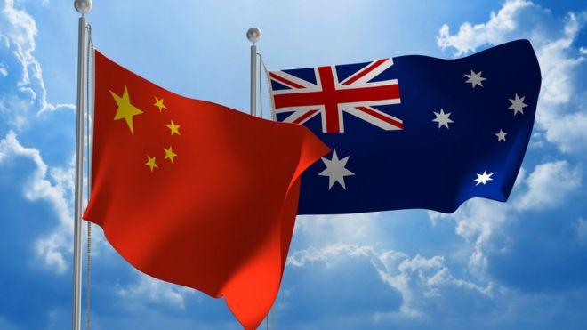 中國與澳大利亞的國旗