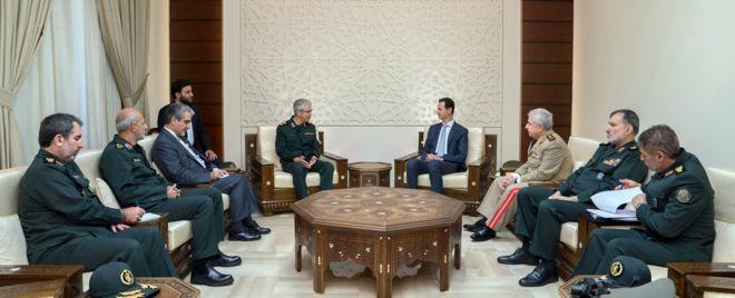 محمد باقری، رئیس ستاد کل نیروهای مسلح ایران با بشار اسد دیدار کرد