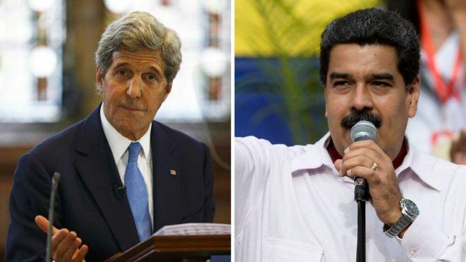 Kerry y Maduro