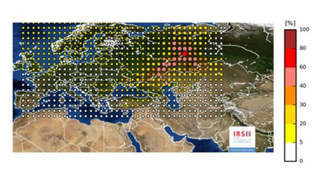 La fuga de material radioactivo alcanzó a la mayor parte de los países de Europa.