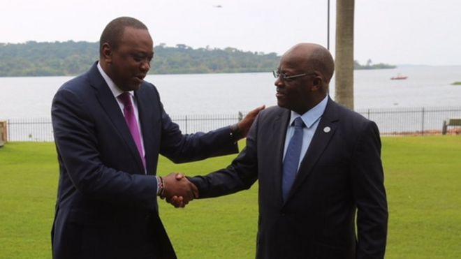 Kenyatta na Magufuli walipokutana Kampala