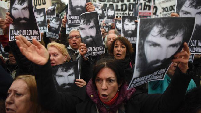 Protesta en Argentina por Maldonado