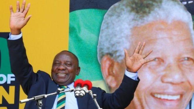 Kiongozi wa Chama Tawala nchini Afrika kusini Cyril Ramaphosa