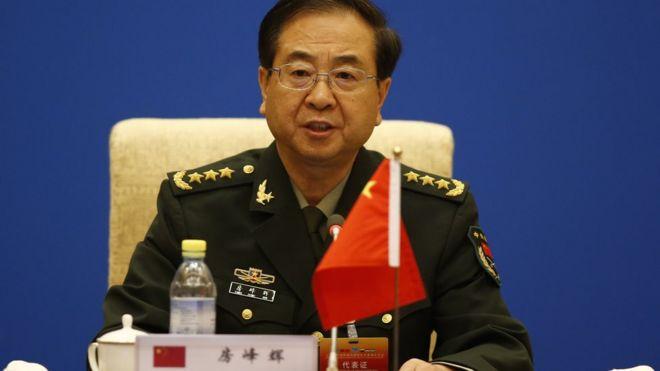 2014年8月,上海合作組織成員國軍隊總參謀長會議在北京釣魚台國賓館舉行。房峰輝在會上發言。