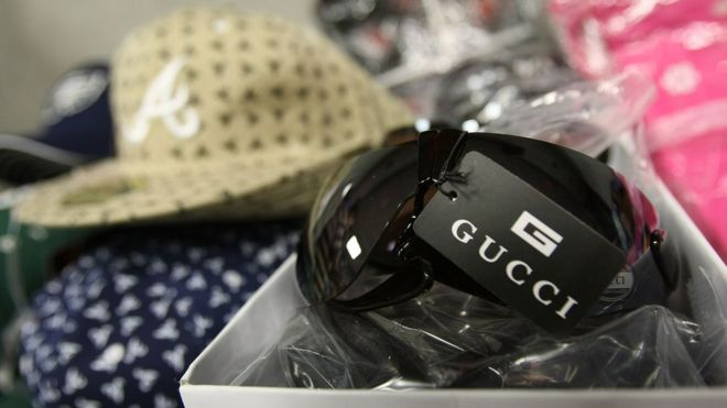 Counterfeit items seized in 2008 (file picture)