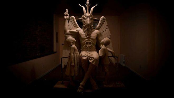 Foto de estátua de Baphomet