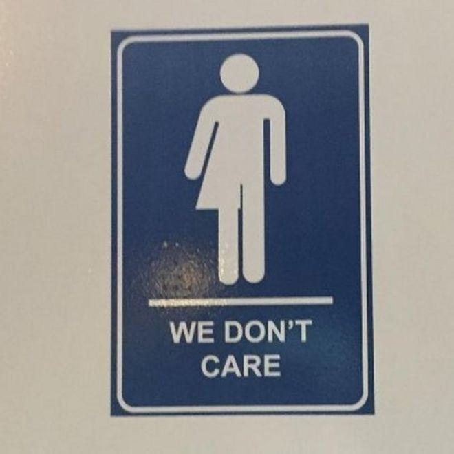 We Dont Care Gender Neutral Bathroom Sign
