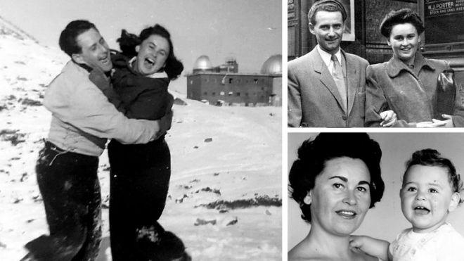 Fotos de Lale e Gita Sokolov e do filho do casal, Gary