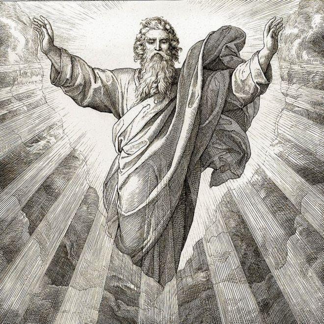 El primer día de la Creación. Ilustración de Julius Schnorr von Carolsfeld, 1852-60.