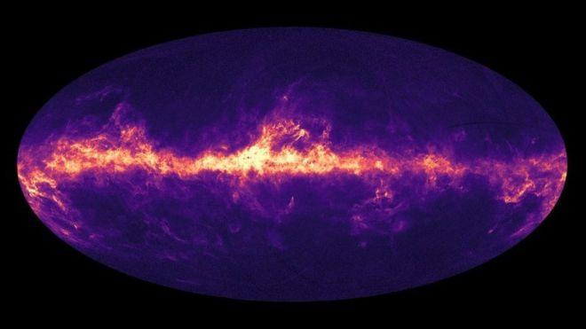 Imagen basada en las observaciones del satélite Gaia