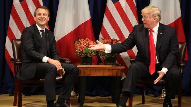 Президент Макрон станет первым иностранным лидером официально посетившим Вашингтон при президенте Трампе