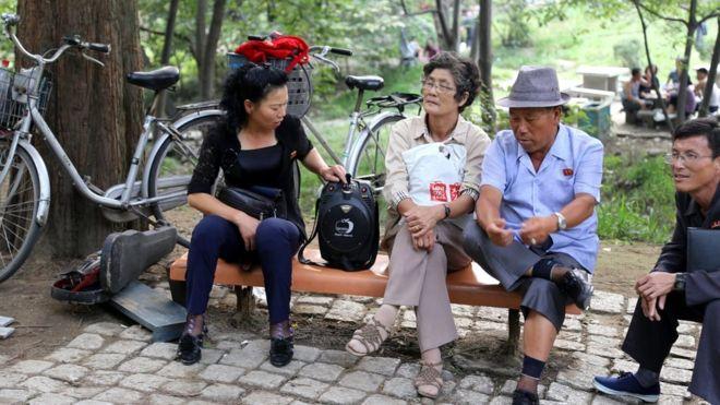 People in a public park